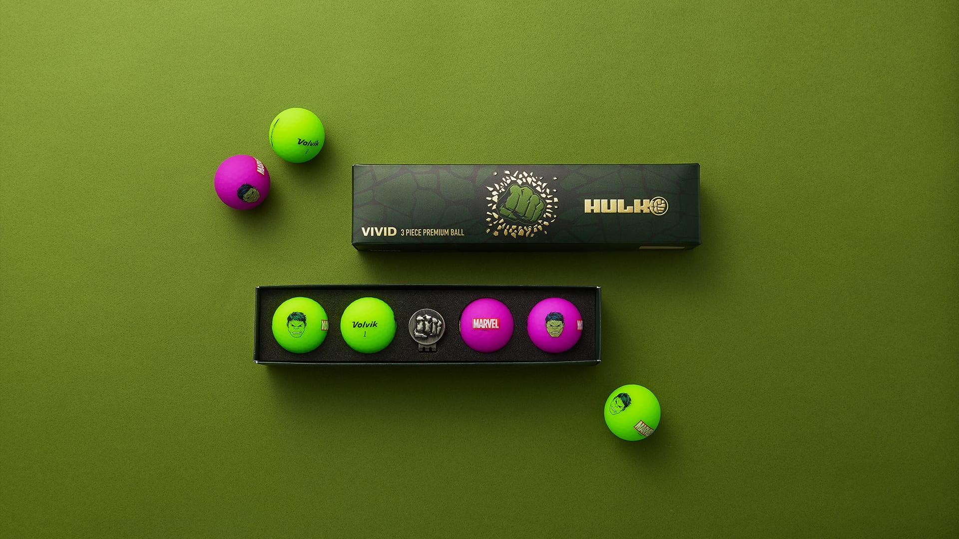 Volvik Introduces Marvel x Volvik The Hulk Golf Balls